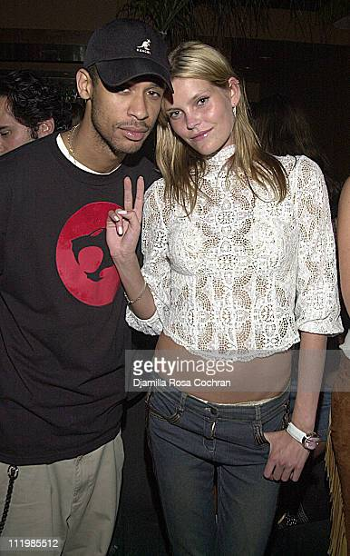 Rashad Haughton and May Andersen during The Bourne Identity Screening After Party at Bungalow 8 in New York City New York United States
