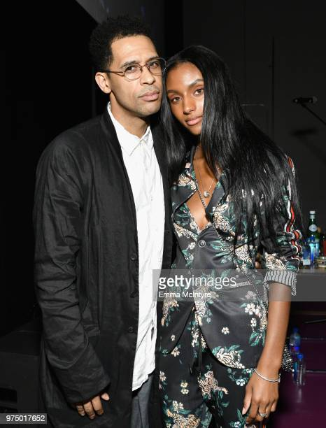 Rashad Haughton and Sydney Harper attend MAC Cosmetics Aaliyah Launch Party on June 14 2018 in Hollywood California
