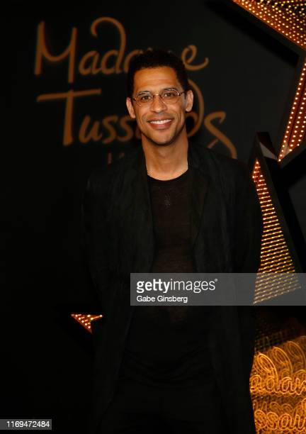 Rashad Haughton attends an unveiling of a figure of his sister RB Princess Aaliyah at Madame Tussauds Las Vegas at The Venetian Las Vegas on August...