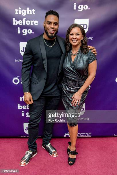 Rashad Jennings and Vanessa Williams attends the 'Right Before I Go' Benefit performance at Town Hall on December 4 2017 in New York City