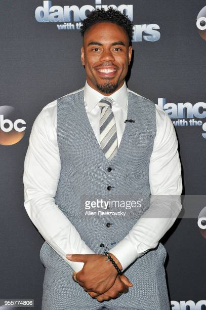 """Rashad Jennings arrives at ABC's """"Dancing With The Stars: Athletes"""" Season 26 show on May 7, 2018 in Los Angeles, California."""
