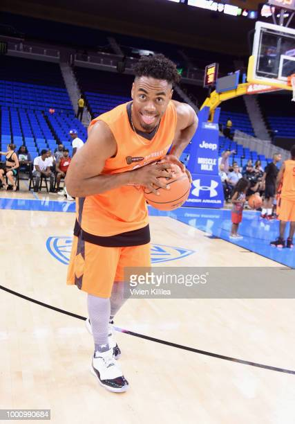 Shaggy the Dog and Michael Blackson attend Monster Energy Outbreak Presents $50K Charity Challenge Celebrity Basketball Game at UCLA's Pauley...