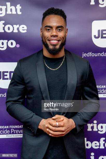 Rashad Jennings attends the 'Right Before I Go' Benefit performance at Town Hall on December 4 2017 in New York City