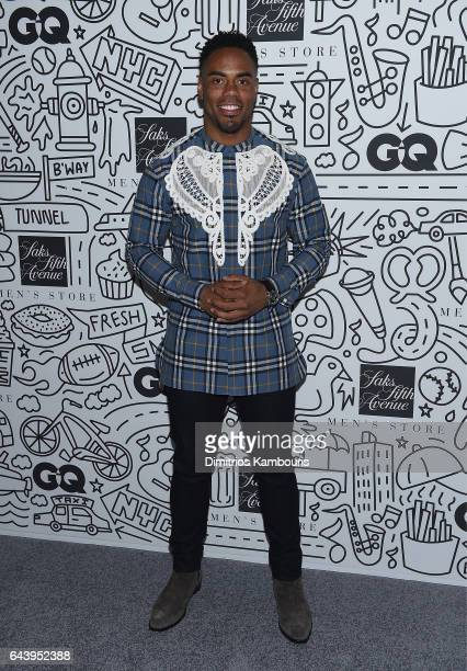 Rashad Jennings attends the Saks Downtown Men's opening at Saks Downtown Men's on February 22 2017 in New York City