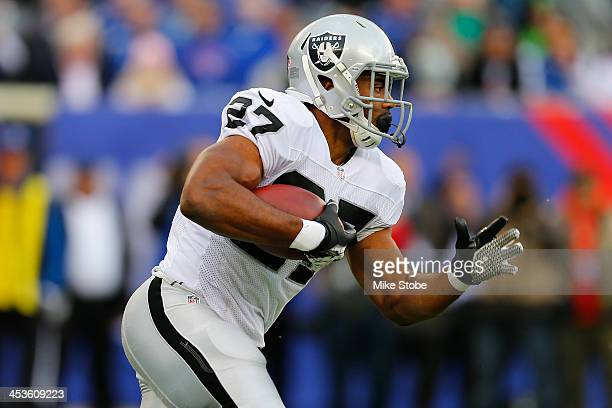 Rashad Jennings of the Oakland Raiders in action against the New York Giants at MetLife Stadium on November 10 2013 in East Rutherford New Jersey...
