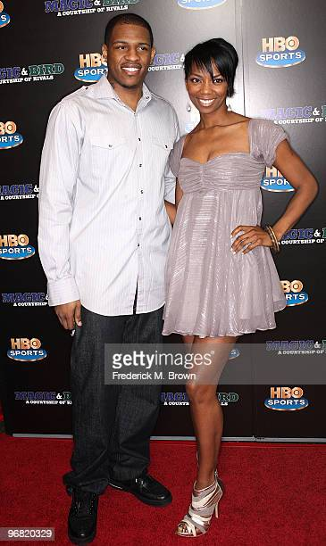 Rashad McCants and actress Vanessa Williams attend the 'Magic Bird A Courtship of Rivals' film premiere at the Mann Bruin Theatre on February 17 2010...
