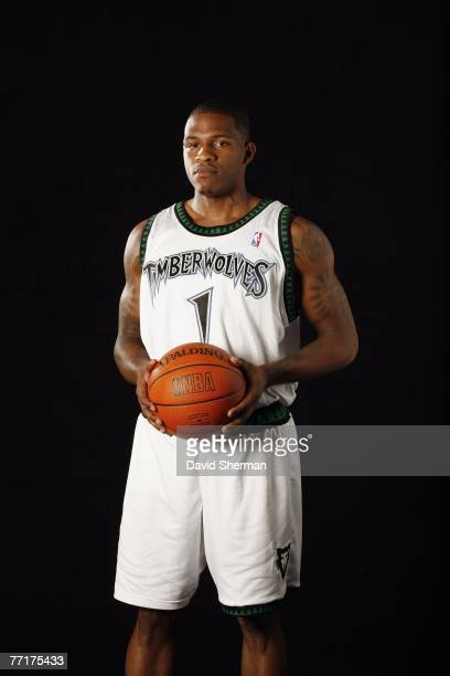Rashad McCants of the Minnesota Timberwolves poses for a portrait during NBA Media Day at the Target Center on September 28 2007 in Minneapolis...