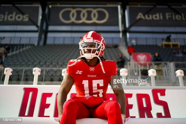 Rashad Ross of the DC Defenders looks on before the game against the New York Guardians at Audi Field on February 15 2020 in Washington DC