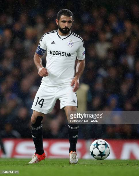 Rashad Sadygov of Qarabag during the UEFA Champions League group C match between Chelsea FC and Qarabag FK at Stamford Bridge on September 12 2017 in...