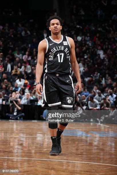 Rashad Vaughn of the Brooklyn Nets looks on during the game against the Houston Rockets on February 6 2018 at Barclays Center in Brooklyn New York...