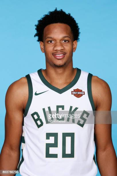 Rashad Vaughn of the Milwaukee Bucks poses for a head shot during media day on September 25 2017 at the Froedtert and Medical College of Wisconsin...