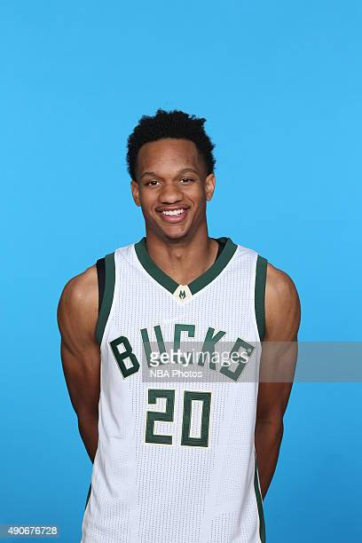 Rashad Vaughn the Milwaukee Bucks poses for a portrait during Media Day on September 28 2015 at the Orthopaedic Hospital of Wisconsin Training Center...