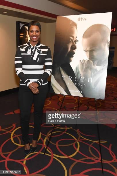 Rashan Ali attends Apple TV's Truth Be Told Atlanta screening at AMC Parkway Pointe on December 02 2019 in Atlanta Georgia