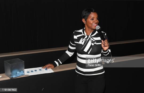 Rashan Ali speak onstage during Apple TV's Truth Be Told Atlanta screening at AMC Parkway Pointe on December 02 2019 in Atlanta Georgia