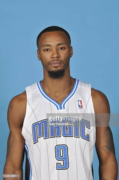 Rashard Lewis of the Orlando Magic poses for a photo during NBA Media Day on September 27 2010 at Amway Center in Orlando Florida NOTE TO USER User...