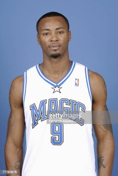 Rashard Lewis of the Orlando Magic poses for a portrait during NBA Media Day at the RDV Sportsplex on September 28 2007 in Maitland Florida NOTE TO...