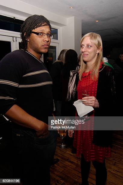 Rashawn Griffin and Mitzi Pederson attend Whitney Biennial Artists Party at Trata Estiatoria on March 8 2008 in New York City