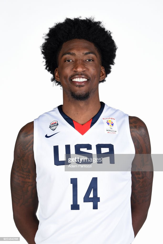 Rashawn Thomas #14 of Team USA poses for a head shot on February 20, 2018 at the LA Clippers Training Center in Playa Vista, California.