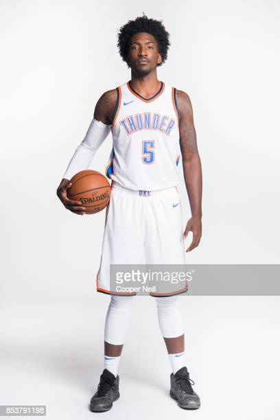 Rashawn Thomas of the Oklahoma City Thunder poses for a photo during media day at Chesapeake Energy Arena on September 25 2017 in Oklahoma City...