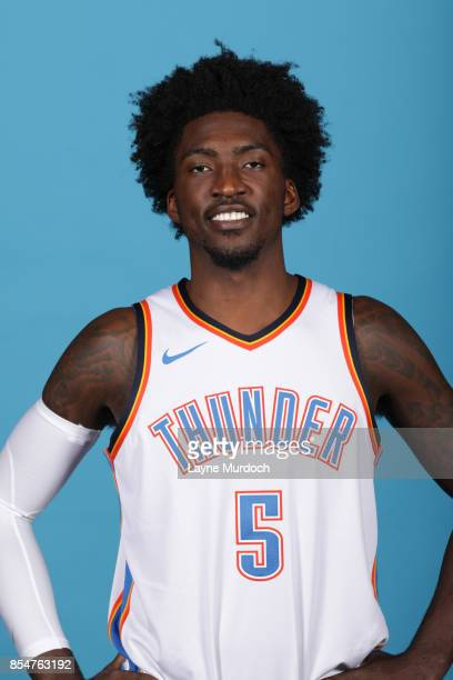 Rashawn Thomas of the Oklahoma City Thunder poses for a portrait during 2017 NBA Media Day on September 25 2017 at the Chesapeake Energy Arena in...