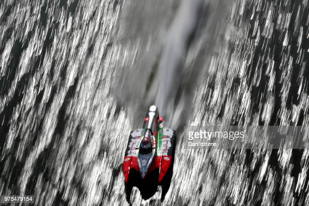 Rashed Al Qemzi of UAE and Team Abu Dhabi in action during free practice ahead of round two of the 2018 Championship the F1H2O UIM Powerboat World...