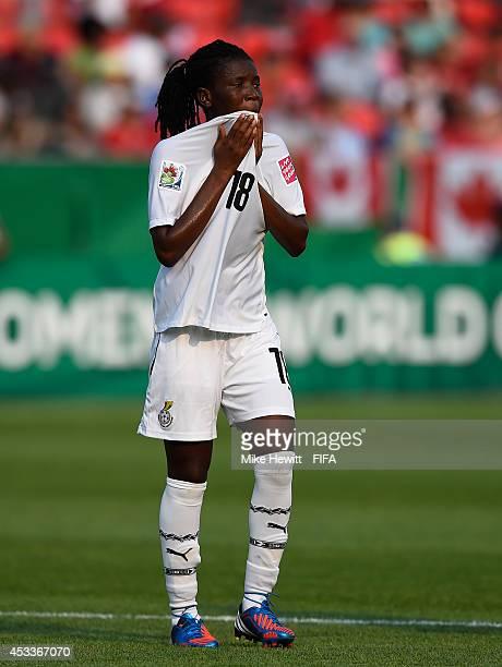Rasheda AbdulRahman of Ghana reacts during the FIFA U20 Women's World Cup Canada 2014 Group A match between Ghana and Korea DPR at the National...
