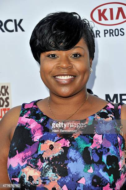 Rasheda Douglas attends the Black AIDS Institute 2015 Heroes in the Struggle Reception Gala and Awards Ceremony at Directors Guild Of America on June...