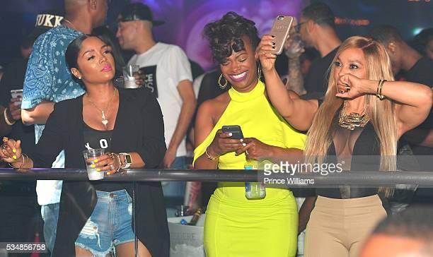 Rasheeda Kandi Burruss and Gocha Hawkins attend the Love and Hip Hop Take Over at Prive on May 28 2016 in Atlanta Georgia