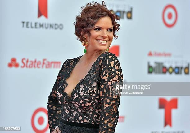 Rashel Diaz arrives at Billboard Latin Music Awards 2013 at Bank United Center on April 25 2013 in Miami Florida