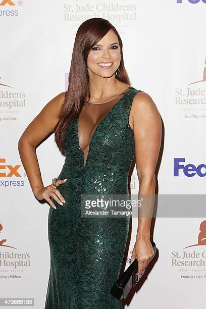 Rashel Diaz arrives at the 13th Annual St Jude Angels and Stars Gala on May 16 2015 in Miami Florida