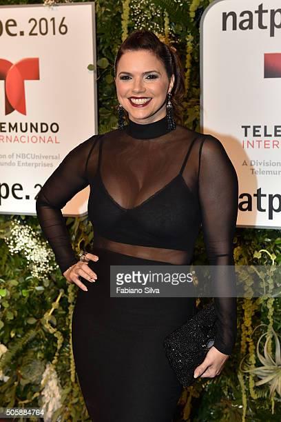 Rashel Diaz attends Telemundo NATPE party on January 19 2016 in Miami Beach Florida
