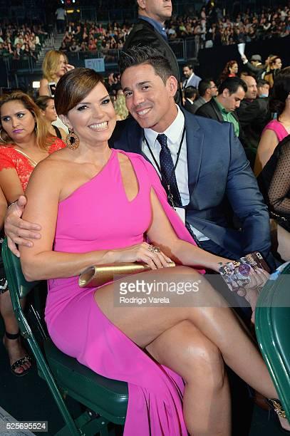 Rashel Diazper and boyfriend at the Billboard Latin Music Awards at Bank United Center on April 28 2016 in Miami Florida