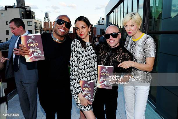 Rashgene Gazi-White, guest , Duane Gazi-White and Mariana Verkerk attend Launch Party at The Schumacher, 36 Bleecker, Penthouse A, to Celebrate...