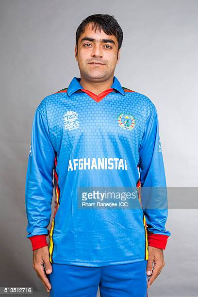 Rashid Khan of the Afghanistan poses during the official photocall for the ICC Twenty20 World on March 3 2016 in Mohali India