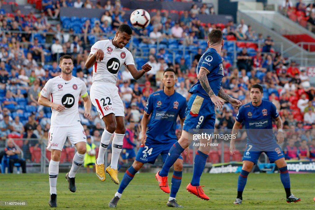 A-League Rd 24 - Newcastle v Western Sydney : News Photo