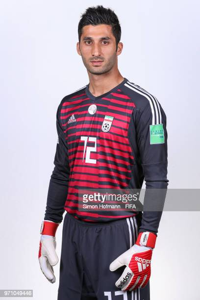 Rashid Mazaheri of Iran poses during the official FIFA World Cup 2018 portrait session at Bakovka Training Base on June 9 2018 in Moscow Russia