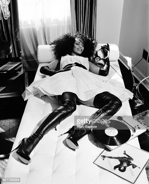 DJ Rashida is photographed in New York City 2008 Styling Mariel Haenn Hair Johnny Stuntz Maekup Kerry Malouf Manicure Marsha Bialo Dress by Marc by...