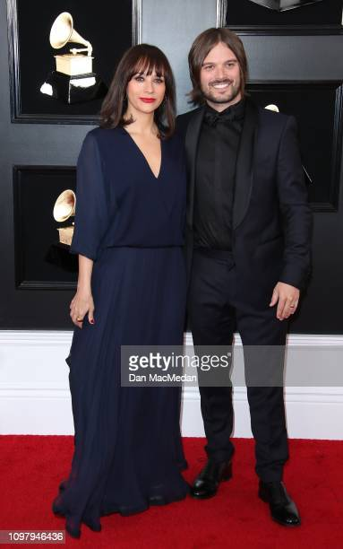 Rashida Jones and Alan Hicks attend the 61st Annual GRAMMY Awards at Staples Center on February 10 2019 in Los Angeles California