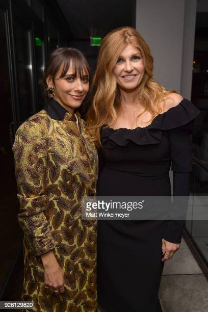 Rashida Jones and Connie Britton celebrate with Belvedere Vodka at Vanity Fair and Lancome Paris Toast Women in Hollywood hosted by Radhika Jones and...