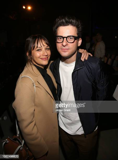 Rashida Jones and Eli Bush attend the premiere of A24's 'Mid90s' after party on October 18 2018 in Los Angeles California