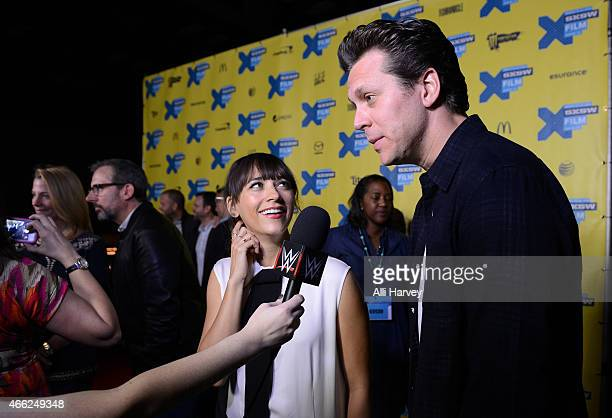 Rashida Jones and Hayes MacArthur attend the TBS Angie Tribeca Premiere at SXSW at Austin Convention Center on March 14 2015 in Austin Texas