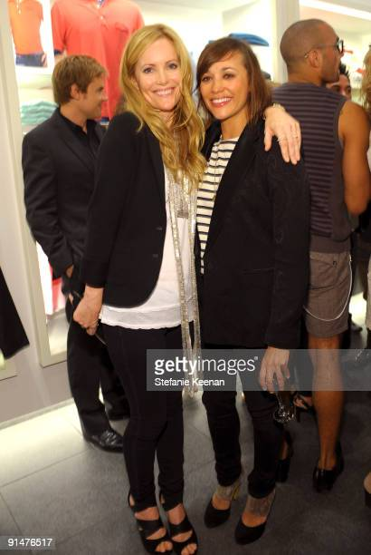 Rashida Jones and Leslie Mann attend the launch of the 2009 Pink Croc Collection to benefit the Breast Cancer Research Foundation held at the Lacoste...