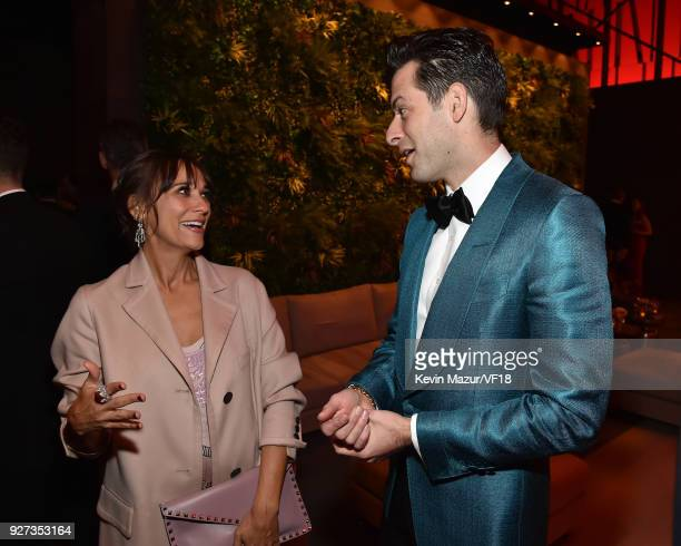 Rashida Jones and Mark Ronson attend the 2018 Vanity Fair Oscar Party hosted by Radhika Jones at Wallis Annenberg Center for the Performing Arts on...