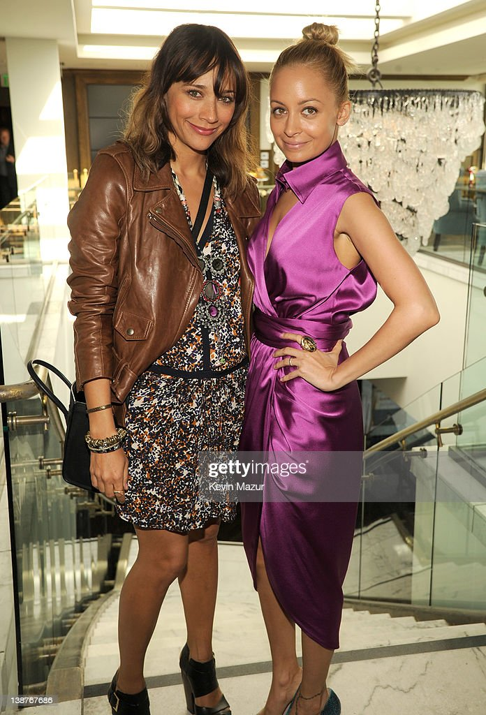 Rashida Jones and Nicole Richie attend the 4th Annual Roc Nation Pre-GRAMMY brunch at Soho House on February 11, 2012 in West Hollywood, California.