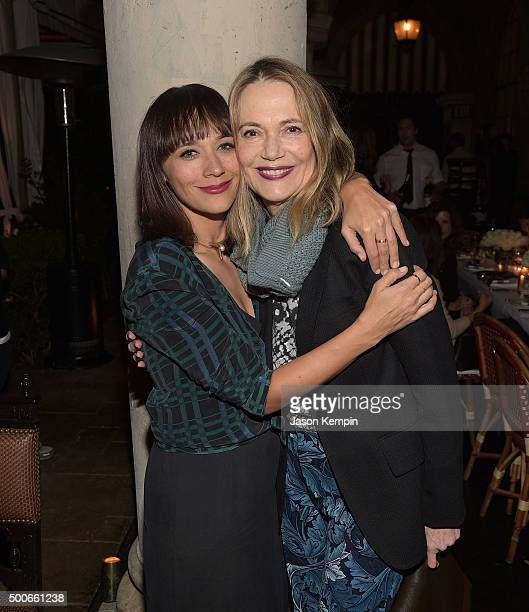 Rashida Jones and Peggy Lipton attend the Equipment and Vanity Fair Dinner hosted by Rashida Jones and Krista Smith at Chateau Marmont on December 8...