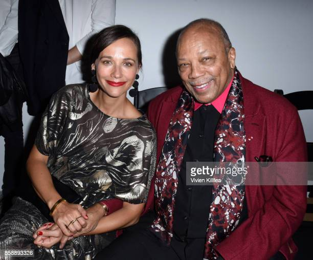 Rashida Jones and Quincy Jones attend the 2017 Los Angeles Dance Project Gala on October 7 2017 in Los Angeles California
