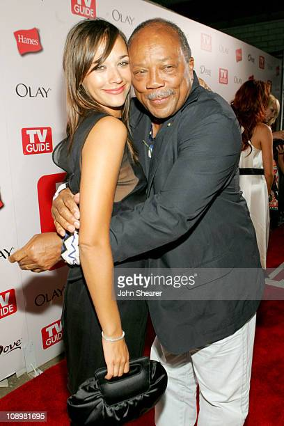 Rashida Jones and Quincy Jones during TV Guide Emmy After Party Red Carpet at Social in Los Angeles California United States