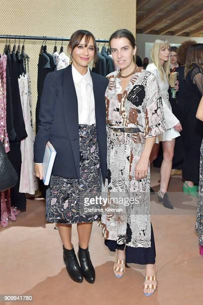 Rashida Jones and Rachel Comey attend Conde Nast The Women March's Cocktail Party to Celebrate the One Year Anniversary of the March the Publication...