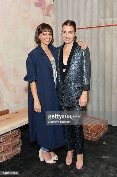 Rashida Jones and Rachel Comey attend Rachel Comey Los Angeles Store Opening on June 15 2016 in Los Angeles California