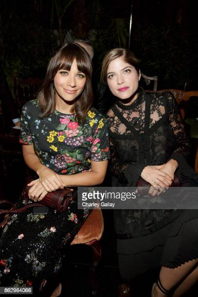 Rashida Jones and Selma Blair at HM x ERDEM Runway Show Party at The Ebell Club of Los Angeles on October 18 2017 in Los Angeles California